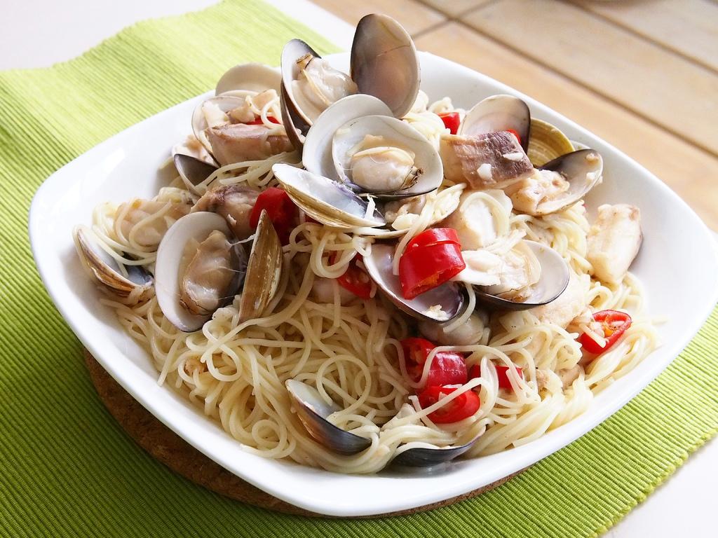 day060-午餐-鯛魚蛤蜊義大利麵.JPG